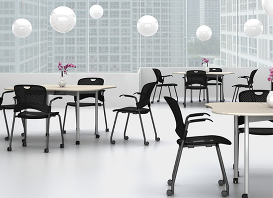 Herman Miller Intersect Tables & Caper Stacking Chair