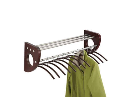 Safco Mode Wood Wall Coat Rack