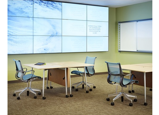 Herman Miller Intersect Tables & Setu Chairs