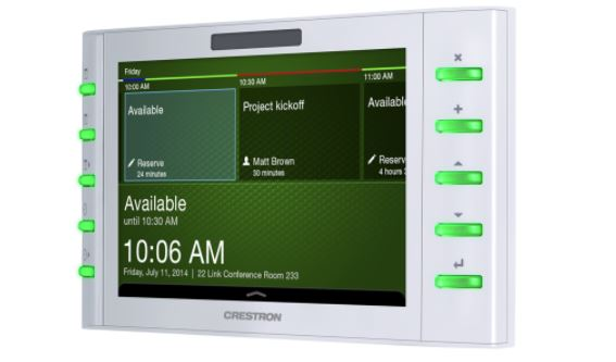 Crestron 7 scheduling touch screen