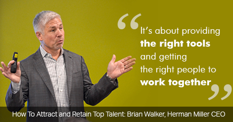 How to attract and retain top talent herman miller CEO